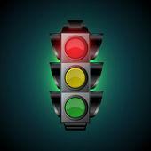 Vector illustration of traffic light — Stock Vector