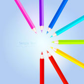 Vector colorful pencil set — Stock Vector