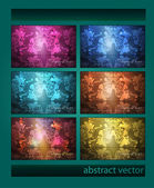 Vector set of vintage backgrounds. — Stock Vector