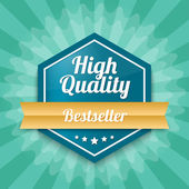 High quality badge — Stock Vector