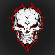 Vector de stock : Skull Vector Illustration