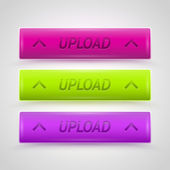 Glossy Upload Buttons — Stock Vector