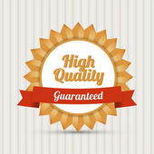 High quality badge - Guaranteed — Stock Vector