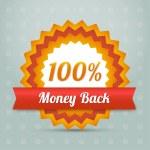 Vector money back label — Stock Vector #20841445