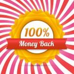 Vector money back label — Stock Vector #20841497
