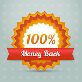 Vector money back label — Stock Vector
