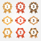 Set of vector retro ranking badges — Stock Vector