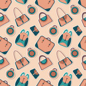 Vector fashion bags seamless pattern — Stock Vector