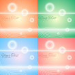 Set of abstract backgrounds — Stock Vector #20868415