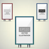 Vector illustration of billboards — Stock Vector
