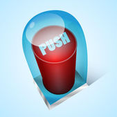 Red button — Stock Vector