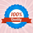 Vector hundred guarantee badge — Vetorial Stock #20997331