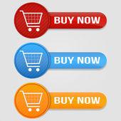 Köpa knappar — Stockvektor