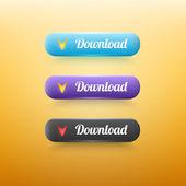 Vektor download schaltflächen festlegen — Stockvektor