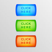 Vector set of colorful buttons. — Stock Vector