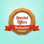 Special offers label. Bestseller — Stock Vector