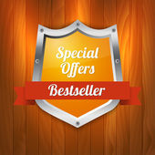 Vector sale label. Special offers. Bestseller — Stock Vector