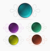 Set of colored buttons — Stock Vector
