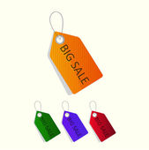 Sale tags. Vector. — Stock Vector