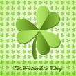 Shamrock, clover design, for St. Patrick's Day. — Imagen vectorial