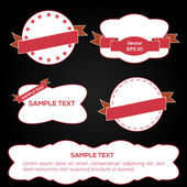 Set of vector ribbons and labels — Stock Vector