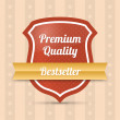 Stock Vector: Premium quality shield - Bestseller