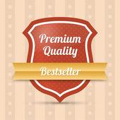 Premium quality shield - Bestseller — Stock Vector