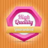High quality badge - Guaranteed — Stock Vector