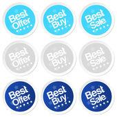 Best buy stickers — Stock Vector