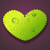 Vector illustration of water drops heart — Stock Vector