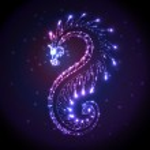 Colorful shiny dragon — Stock Vector