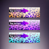 Set of vector skin banners with arrow — Stock Vector
