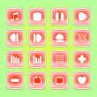 Media buttons — Stock Vector