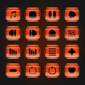 Media buttons — Stock Vector