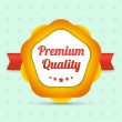 Vector de stock : Premium quality label - Bestseller