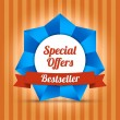 Special offers label. Bestseller — 图库矢量图片