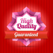 Stock Vector: High quality badge - Guaranteed