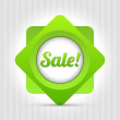 Green vector label - Sale! — Stock Vector