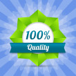 Vector hundred guarantee badge — Vetorial Stock #21131833