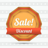 Vector sale label - Discount. — Stock Vector