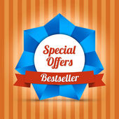 Special offers label. Bestseller — Stock Vector