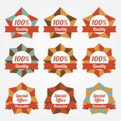 Set of vector sale labels, badges — Stock Vector