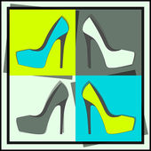 Kadın ayakkabı moda, vektör — Stok Vektör