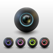 Camera lenses. Raster version. — Stock Vector