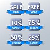 Set of vector sale labels — Stock Vector