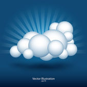 Abstract cloud vector illustration. — Stock Vector