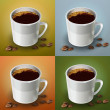 Vector set of coffee cups. — Imagen vectorial