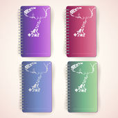 Set of colored notepads — Stock Vector