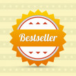 Label - Bestseller. Vector — Stockvectorbeeld