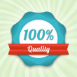Stock Vector: Vector hundred guarantee badge